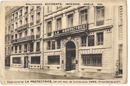 Assurances Accidents, Incendie, Grêle, Vol - Siège Social La Protectrice, 45-47 Rye De Chateaudun, Paris - Autres