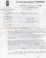 85Mé  Motos Et Vélomoteurs Terrot Courrier De 1934 à Garage Plan à Mallemoisson (04) - France