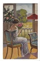 19831 - Jeune Fille Bouquet De Fleurs Der Blumengruss - Femmes