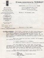 85Mé  Motos Et Vélomoteurs Terrot Lot 2 Courriers De 1933 Pour Voitures Enfants - France