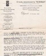 85Mé  Motos Et Vélomoteurs Terrot Lot 2 Courriers De 1933 Vente à Crédit - France
