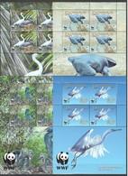 W348 PENRHYN FAUNA BIRDS WWF PACIFIC REEF-EGRET !!! MICHEL 38 EURO !!! 4KB MNH - W.W.F.