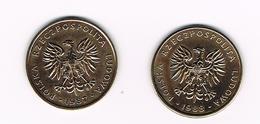 POLEN  2 X 5  ZLOTYCH  1987/88 - Polonia