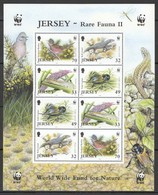 W353 2004 JERSEY WWF FAUNA BIRDS INSECTS REPTILES RARE FAUNA II 1KB MNH - W.W.F.