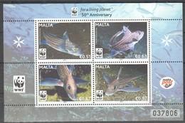 W354 2011 MALTA MARINE LIFE FISH WWF 1KB MNH - W.W.F.