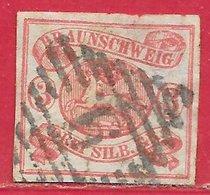 Brunswick N°10 3s Rose 1853-65 O - Braunschweig