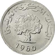 Monnaie, Tunisie, 2 Millim, 1960, SUP, Aluminium, KM:281 - Tunisie