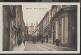 LOMBARDIA - CREMA - VIA XX SETTEMBRE - ANIMATA - EDIZ. MORETTI - FORMATO PICCOLO - VIAGGIATA 12.05.1928 - Autres Villes