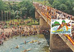 D33892 CARTE MAXIMUM CARD TRIPLE 1985 SPAIN - KANOING CP ORIGINAL - Canoe