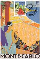 D33893 CARTE MAXIMUM CARD 2003 MONACO - TENNIS COURT MONTE CARLO COUNTRY CLUB CP ORIGINAL - Tennis