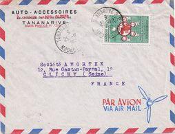 Lotto Di 4 Buste Posta Aerea Anni 50/60  Destinazione Francia - Madagascar (1960-...)