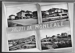 SALUTI DA ... MONLEALE (AL) - VEDUTE VARIE - VIAGGIATA DA VOLPEDO (AL) 27.09.1961 - Souvenir De...