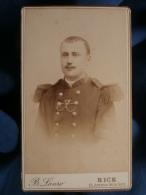 Photo CDV B. Lauro à Nice - Militaire Insigne De Musicien Du 161e D'infanterie, Prix De Tir L380 - Photographs