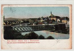 NOVO MESTO DRŽAVNI MOST BRIDGE 1909  RAZGLEDNICA SLOVENIJA SLOVENIA POSTCARD - Slovenia