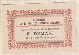 8/131 Carte De Visite LIBRAIRIE DE LA SOCIETE SAINT AUGUSTIN DEMAN LILLE - Cartes De Visite