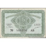 TWN - FRENCH INDO-CHINA 88a - 5 Cents 1942 Serial # Format 123456XX - Suffix AB AXF - Indocina