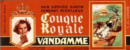 BUVARD  PAIN D EPICES VANDAMME  ROI FAINEANT - Gingerbread