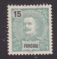Funchal, Scott #17, Mint No Gum, King Carlos, Issued 1897 - Funchal