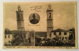 MONGIARDINO LIGURE - CAMPANILE PENDENTE A SUD RADDRIZZATO DA MONSIGNOR PICCARDO 1934 NV FP - Alessandria