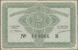 TWN - FRENCH INDO-CHINA 88a - 5 Cents 1942 Serial # Format 123456X - Suffix B - Signatures: Mayet & Cousin XF+ - Indocina