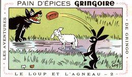 BUVARD PAIN D EPICES GRINGOIRE LE LOUP ET L AGNEAU - Gingerbread