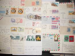 Vrac , Lot De 50 Lettres, Cartes Monde - Francobolli