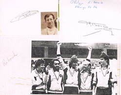 AUTOGRAPHES - JEUX OLYMPIQUES - FRANCE - REVENU - RIBOUD - ESCRIME - - Autographs