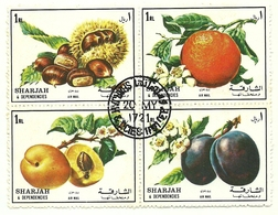 1972 - Sharjah - Frutta, - Frutta