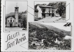 SALUTI DA ... SANT'ANNA DI BERNEZZO (CN) - VEDUTE VARIE - VIAGGIATA FRANCOBOLLO ASPORTATO - Gruss Aus.../ Gruesse Aus...