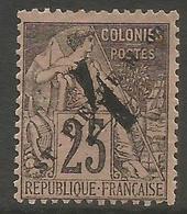 St Pierre & Miquelon - 1892 Overprint & Surcharge On Dubois Issue MH *   Mi 45  Sc 51 - Unused Stamps