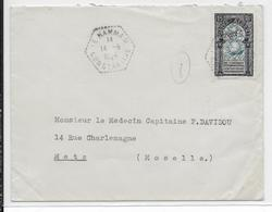 ALGERIE - 1954 - ENVELOPPE De LE HAMMAM => METZ - Algérie (1924-1962)