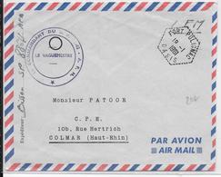 ALGERIE - 1961 - ENVELOPPE FM De FORT POLIGNAC OASIS  => COLMAR - Poststempel (Briefe)
