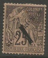 St Pierre & Miquelon - 1892 Overprint & Surcharge On Dubois Issue MH *   Mi 41  Sc 49 - Unused Stamps