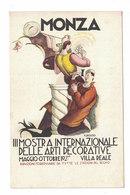 CARTOLINA POSTALE PUBBLICITARIA  III MOSTRA INTERNAZIONALE DELLE ARTI DECORATIVE 1927  Illustratore ROSSO - Publicidad