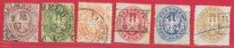 Prusse N°14 à 20 (sauf 18) 1861-65 O - Prusse