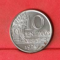 BRASIL 10 CENTAVOS 1974 -    KM# 578,1a - (Nº22685) - Brasil