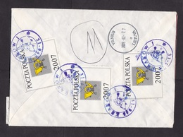 Poland: Registered Value Cover To Lithuania, 2009, TP, Official Postal Seal Label, V-label, Rare (traces Of Use) - Covers & Documents