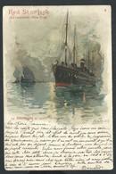 +++ CPA - Bateau - RED STAR LINE Antwerpen New York - Illustrateur Cassiers - SS.NOORDLAND By Nacht Op De Schelde    // - Paquebots