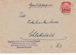 Env Affr Michel Elsass 5 Obl WITTISHEIM (KR SCHLETTADT) Du 19.4.41 Adressée à Schlettstadt - Marcophilie (Lettres)