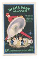 CARTOLINA POSTALE PUBBLICITARIA  DIANA PARK ALASSIO  Illustratore ROMOLI - Pubblicitari