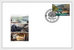 Slovenië / Slovenia - Postfris / MNH - FDC 100 Jaar Hydropower Plant 2018 - Slovenië