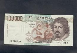 100000 Lire CARAVAGGIO 1° TIPO SERIE D 1990 Spl+ LOTTO 508 - 100.000 Lire