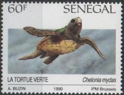 SENEGAL 895 ** MNH TORTUE Verte SCHILDKRÖTE TURTLE TORTOISE TORTUGA - Senegal (1960-...)
