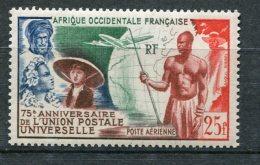 6988  A.O.F.   PA 15**  25f     75ème Annversaire De L'Union Postale Universelle    1949   TTB - A.O.F. (1934-1959)