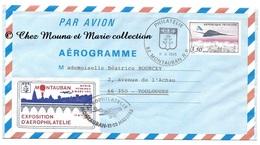MONTAUBAN 1985 - EXPOSITION AEROPHILATELIE AEROGRAMME TOULOUGES - ENVELOPPE - 1961-....