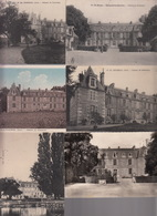 LOT De 6 CPA CHER (18) - EPINEUIL LE FLEURIEL Château De Cornançay - Différentes Vues - France