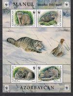 WWF W.W.F. Azerbaijan Manul / Fauna MNH Perf Souvenir Sheet 2016 - W.W.F.