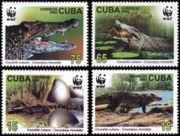 (WWF-327) W.W.F Cuba MNH Crocodile Stamps 2003 - W.W.F.