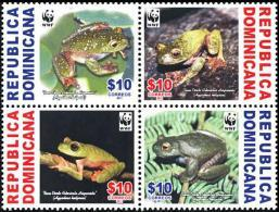 (WWF-484) W.W.F Dominican Republic Hispaniolan Green Treefrog MNH Stamps 2011 - W.W.F.