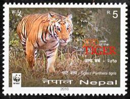 WWF W.W.F. Nepal MNH Tiger New Year Stamp 2010 - W.W.F.